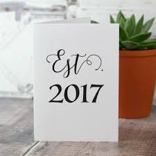 est year personalised anniversary card by so