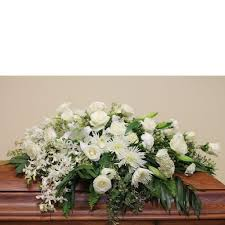 casket spray white casket spray the blooming idea