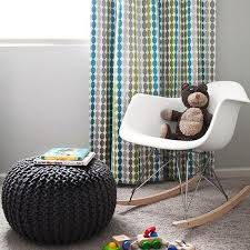 gray knitted pouf design ideas