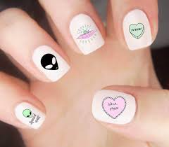 alien nail decals kawaii nail decals nail decals nail