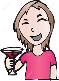 martini cartoon clip art cartoon of smiling holding red drink in martini glass royalty