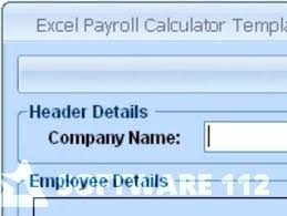 excel payroll calculator template software 7 0 free download