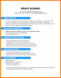 Resume Samples Bca Students by Sample Resume For Elementary Teacher Fresh Graduate Templates