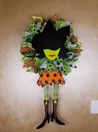 Halloween Front Door Decor Halloween Witch Wreath Witch Wreath Halloween Wreath Halloween