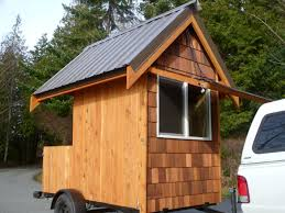 Build Small House Relaxshacks Com Eli Curtis U0027 Tiny Cabin On Wheels A Micro Getaway