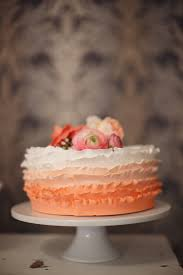 peach ombre wedding cake cheerful wedding inspiration in coral and gray sweet stories