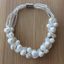 pearl bracelet designs images Serendipity by monya flora handmade pearl bracelet bridal jpg