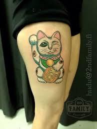 maneki neko lucky cat tattoo cute hudu by hudu85 on deviantart