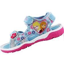 disney frozen north girls kids sandals blue denim pink size 6 7