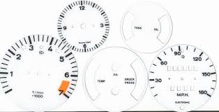 porsche instructions porsche 911 white gauge face overlays with instructions and tool