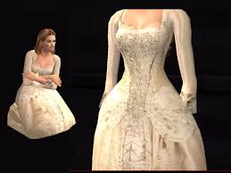 swan s wedding dress mod the sims potc2 elizabeth swann s wedding gown