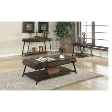 Oak Living Room Tables by Dark Brown Wood Rustic Coffee Table Accent Tables Living