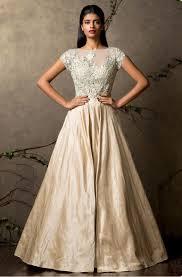 shyamal u0026 bhumika cream indowestern gown gujarati dresses 600
