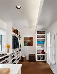Furniture For Walk In Closet by Furniture Walkin Closets In Modern Closet With Recessed Lighting