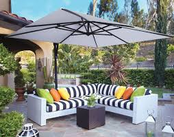 Grey Patio Umbrella 10 U0027 Square Cantilever Umbrella Akzsq10 Swv Patioproductions
