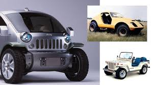jeep concept cars the 5 craziest jeep concepts youtube