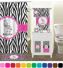 Graphic Shower Curtains by Zebra Shower Curtain Personalized Potty Patty