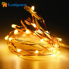 led garland christmas lights lumiparty mini led copper wire fairy lights battery operated led