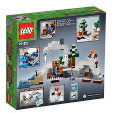 lego 21120 minecraft the snow hideout playset amazon co uk toys