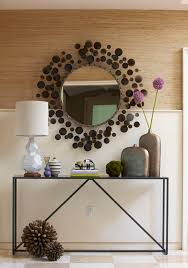 Mirrored Entry Table Mirrored Console Table Entry Contemporary With Artwork Console