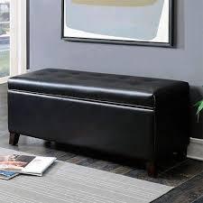 shoe storage ottoman bench ac pacific sb 007 black button tufted shoe storage ottoman bench