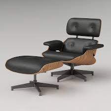 Charles Eames Armchair 3d Eames Lounge Chair High Quality 3d Models