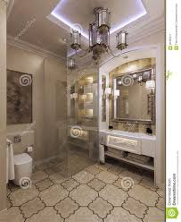 bathroom arabic bathroom moroccan style d render 56455211