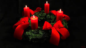 Advent Candle Lighting Readings 4th Advent Wreath German Adventskranz With Four Candles Lit