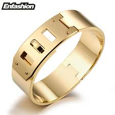 stainless steel buckle bracelet images Wide buckle cuff bracelet kwnshop jpg