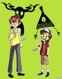 over the garden wall and gravity falls crossover cartoons