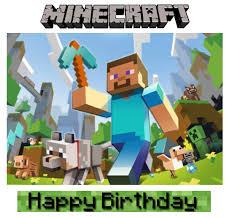 minecraft cake topper rockin my archive minecraft birthday party