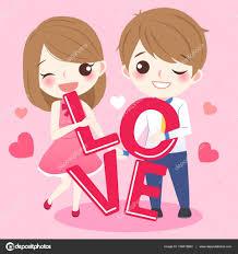 imagenes de amor con muñecos animados dibujos animados pareja toma mundo de amor vector de stock