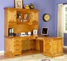 Oak Desks With Hutch Oak L Shaped Desk Foter