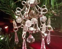 chandelier ornament etsy