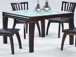 Expanding Dining Room Tables Expandable Dining Set Paloma W Frosted Glass Top Table An