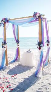 Wedding Arches Decorated With Tulle Best 25 Beach Wedding Arches Ideas On Pinterest Beach Wedding