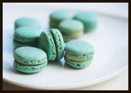 macarons with lemon verbena and white chocolate ganache always