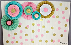 how to make paper rosettes birthday backdrop darice paper