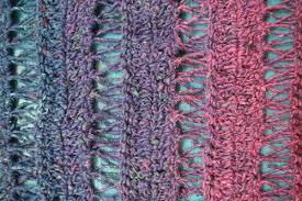 crochet broomstick lace crochet pattern peacock stitch shawlette underground crafter