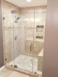 Lakes Shower Door Frameless Shower Door Between Two Panels Medford Lakes Nj