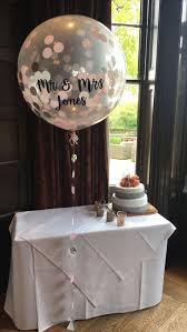 best 25 wedding balloons ideas on pinterest engagement silver pink and white confetti giant balloon personalised for newly wed mr mrs jones