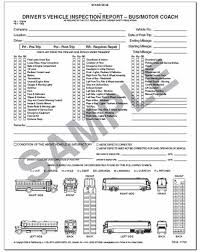 daily inspection report template driver s vehicle inspection report for motor coach
