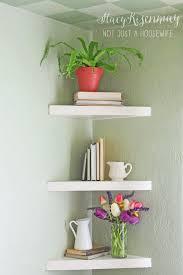Triangle Shaped Bookcase Floating Corner Shelves Stacy Risenmay