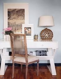 white lacquer desk cottage den library office lonny magazine