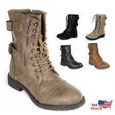 womens boots leather womens faux leather boots ebay