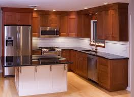 Cherry Wood Kitchen Cabinets Kitchen Cherry Kitchen Cabinet With Black Granite Countertop In U