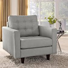 Light Grey Tufted Sofa by Modern Chairs Enfield Light Gray Chair Eurway