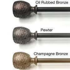 Rubbed Bronze Curtain Rod Decorative Rods And Tiebacks Touch Of Class
