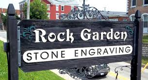 Engraved Garden Rocks Rock Garden Engraving Custom Engraving And Carved Cedar