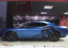 Dodge Challenger 392 - dodge challenger gets matt blue wrap from profoil autoevolution